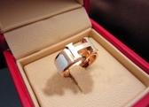 歐美范滴油戒指 女 時尚琺瑯烤漆玫瑰金鈦鋼指環日韓版飾品禮物