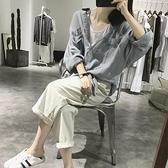 棉麻襯衫女秋季中長款寬鬆大款防曬衣顯瘦長袖亞麻假口袋蝙蝠上衣