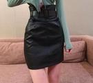 皮裙 現貨 2020新款時尚秋冬季高腰半身裙女顯瘦緊身氣質包臀A字短裙 【快速出貨七折下殺】