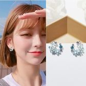 耳環 繽紛花語花圈微鑲彩鑽 925銀針 耳環
