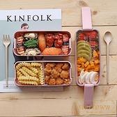日式飯盒便當盒分隔型微波爐餐盒【繁星小鎮】