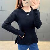 【GZ22】針織毛衣 實拍新款韓版修身百搭圓領套頭打底衫短款純色簡單針織衫毛衣