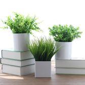 仿真綠色塑料植物裝飾假花擺件家居餐廳餐桌客廳尤加利葉小盆栽  igo 卡布奇諾