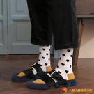 桃心小腿襪女日系長筒襪秋冬堆堆襪【小獅子】