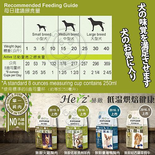 【培菓平價寵物網】Herz赫緻》低溫烘焙健康狗糧-無穀低敏澳洲羊肉-5磅