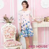 RED HOUSE-蕾赫斯-粉嫩花朵洋裝(粉色)