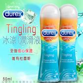 慾望之都 按摩油送潤滑液 英國杜蕾斯Durex《杜蕾斯冰感潤滑液》x2 便宜特價優惠