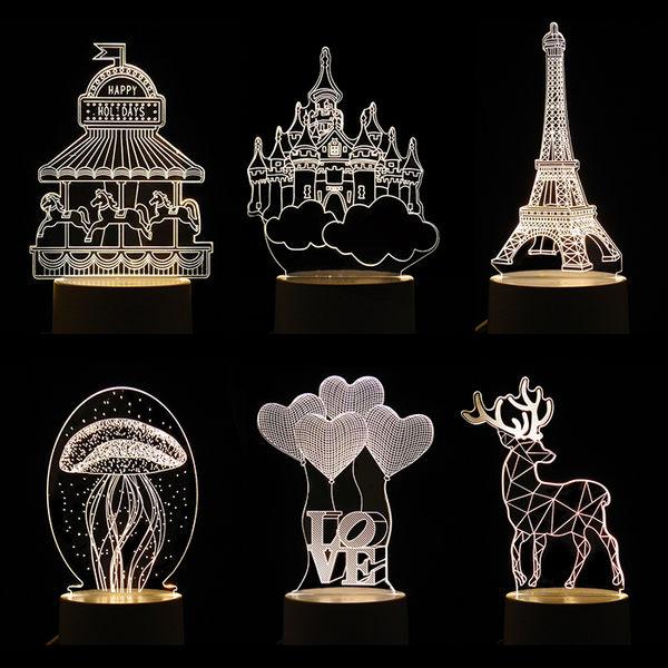 3D立體小夜燈 一入 ◆86小舖 ◆