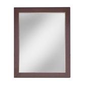 自然風木框壁鏡 胡桃60x50cm