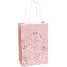 《荷包袋》手提紙袋 大8K 復刻玫瑰-粉(紙繩)