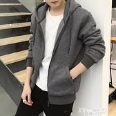 男士開衫衛衣外套連帽運動百搭潮流2021年秋季加絨上衣休閒厚冬裝 夏季新品
