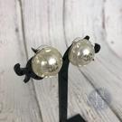 BRAND楓月 CHANEL 香奈兒 17年 圓形 爆裂造型 透明 經典LOGO 耳環 耳飾 飾品 配件
