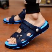 涼鞋男士拖鞋男夏季新款浴室內外穿防滑一字拖男涼拖鞋洞洞 糖糖女屋