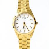 CASIO卡西歐格紋錶帶金色腕錶【NEC123】