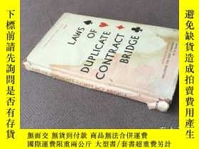 二手書博民逛書店Laws罕見of Duplicate Contract Bridge 1963: Laws of Party Br