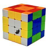 魔方四階實色順滑4階魔方學生比賽專用魔方兒童玩具