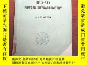 二手書博民逛書店mathematical罕見theory of X-ray powder diffractometry(P3149