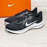 《7+1童鞋》NIKE DOWNSHIFTER 10 舒適機能 透氣輕量 慢跑 運動鞋 H844 黑色