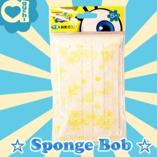 Sponge Bob 海綿寶寶兒童拋棄式口罩(一包五入)台灣製 (最佳使用期限2021/11/10)