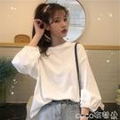 春秋季2020年新款早秋韓版寬鬆外穿燈籠袖上衣服長袖T恤女裝學生  COCO