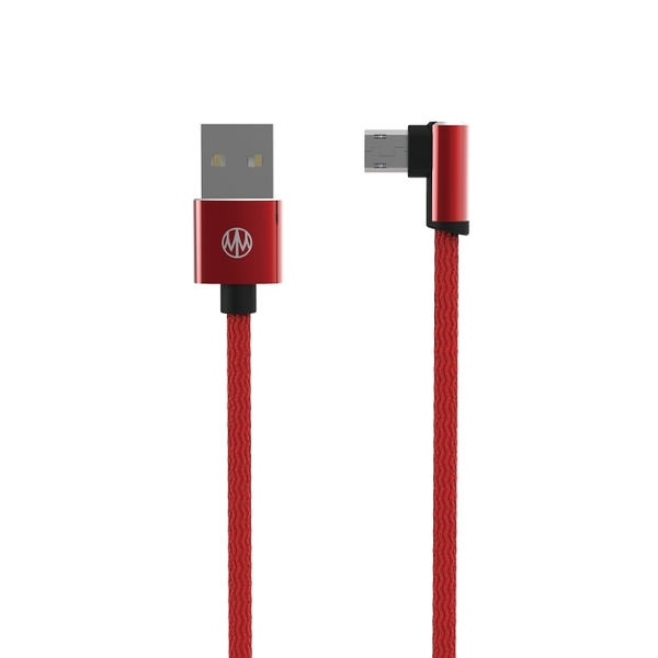 Meet Mind USB正反插2代編織手遊線 2.2M 紅色 - 雙面Micro USB