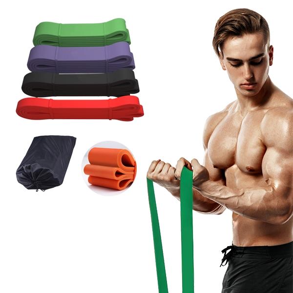 35磅紅色-磅數阻力帶 彈力帶 拉力帶 多功能環狀彈力帶 瑜珈 健身 重訓拉力繩-JoyBaby