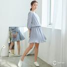 百貨專櫃女裝 腰部鬆緊設計 附內裡防止曝光 日系網紗雪紡材質
