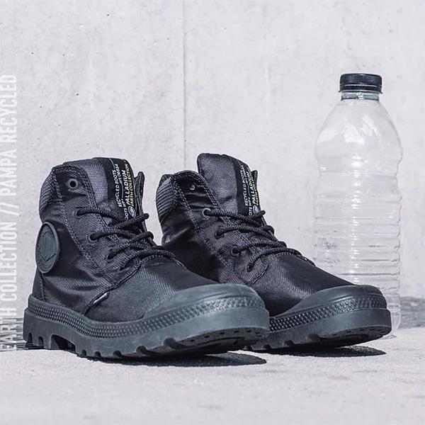 【南紡購物中心】【PALLADIUM】PAMPA CUFF RECYCLE WP+ 地球系列-橘標防水靴 / 石英黑 男鞋