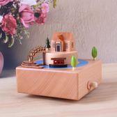 新款木質工藝品音樂盒八音盒中式擺件禮品生日情人節禮物