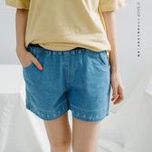 短褲   刻度刺繡牛仔短褲   二色原單-小C館日系