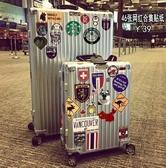 46張歐美復古行李箱貼紙潮牌拉桿箱旅行箱貼個性日默瓦箱子貼防水 遇見初晴