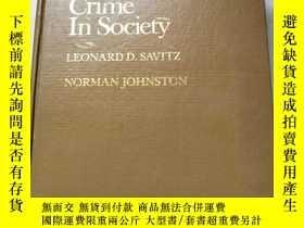 二手書博民逛書店Crime罕見in Society 社會中的犯罪【精裝 英文版】