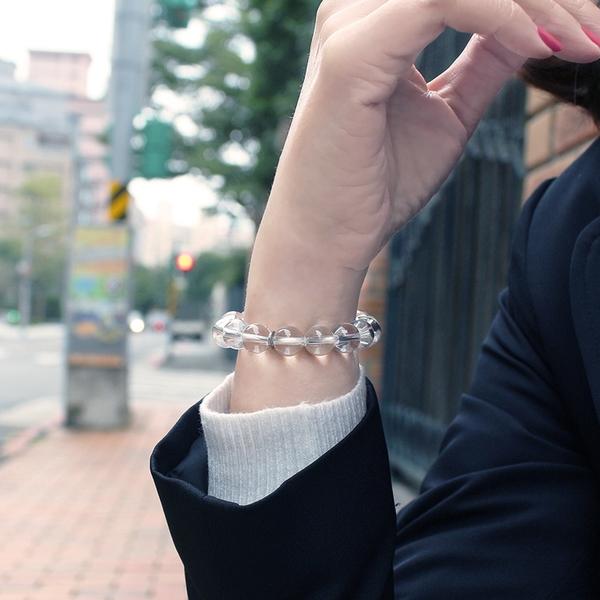 白水晶手鍊-品牌經典-10mm 石頭記