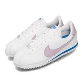 Nike 休閒鞋 Cortez Basic SL GS 白 紫 女鞋 大童鞋 阿甘鞋 皮革 運動鞋 【PUMP306】 904764-108