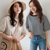 MIUSTAR 休閒感!寬版線條棉質上衣(共4色)【NJ1325】預購