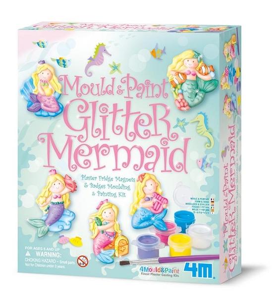 【4M】03526 美勞創作-美人魚公主 製作磁鐵 Mould & Paint / Glitter Mermaid