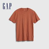 Gap 男裝 棉質舒適圓領短袖T恤 530924-銅色