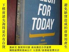 二手書博民逛書店SPEECH罕見FOR TODAY (大32開,精裝)5460