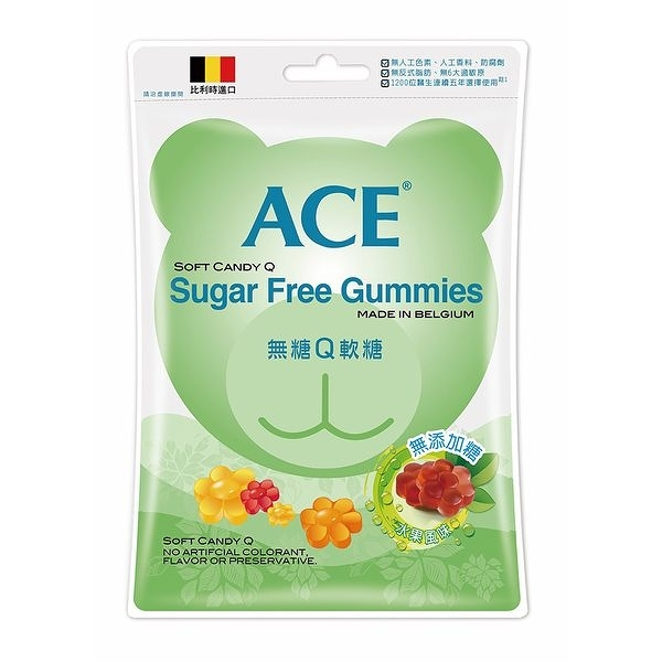 【ACE】無糖Q軟糖240g (綠色)