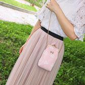 散步手機包便攜豎款斜挎蘋果女生蕾絲可愛斜跨放裝手機的小包  可然精品鞋櫃