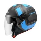 【東門城】ZEUS ZS213 AX5(消光黑藍) 半罩式安全帽 雙鏡片