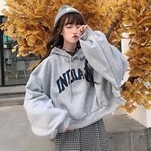 秋季新款潮流短款連帽寬鬆衛衣女長袖ins韓版學生 【母親節特惠】