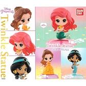 全套3款【日本正版】迪士尼公主 Q版環保扭蛋 扭蛋 轉蛋 公仔 小美人魚 貝兒公主 茉莉公主 - 473251