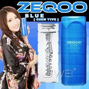 日本SSI‧ZEQOO 超快感自慰杯-CHEW TYPE(藍)★飛機杯罐