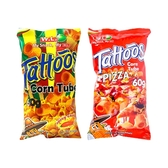 菲律賓 WL FOODS Tattoos玉米脆片/玉米捲(60g) 款式可選【小三美日】