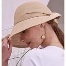 法式鑽帶蝴蝶結遮陽帽 防曬帽 E89M7144