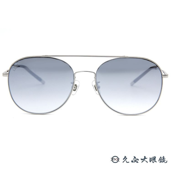 LASH 墨鏡 SCORN MS19 (銀) 雙槓 造型 韓國 淺水銀 太陽眼鏡 久必大眼鏡