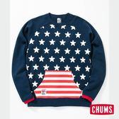 【35週年限定】CHUMS 日本 男 35周年紀念國旗星星套頭衫 CH001143C006
