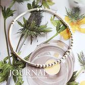 925純銀 極簡銀柱珠彈性手鍊_質物日誌Journal