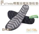 糊塗鞋匠 優質鞋材 C170 Fullway釋壓按摩氣墊鞋墊 1雙 吸震 釋壓 按摩 久站 運動 輕盈舒適
